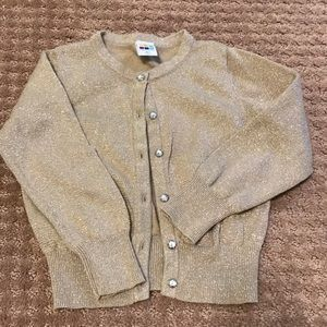 Girls gold sweater